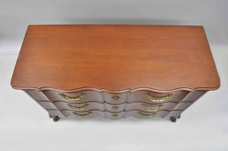 Mid-20th Century John Widdicomb French Country Provincial Louis XV Cherry Commode Bachelor Chest For Sale