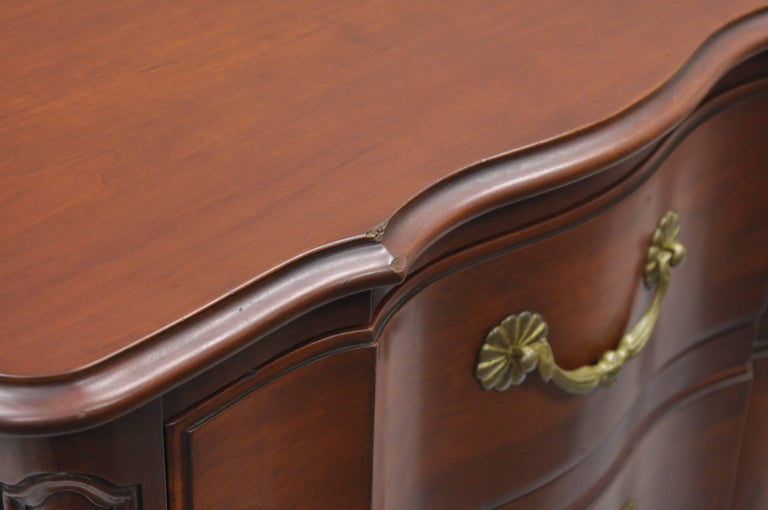 John Widdicomb French Country Provincial Louis XV Cherry Commode Bachelor Chest For Sale 2