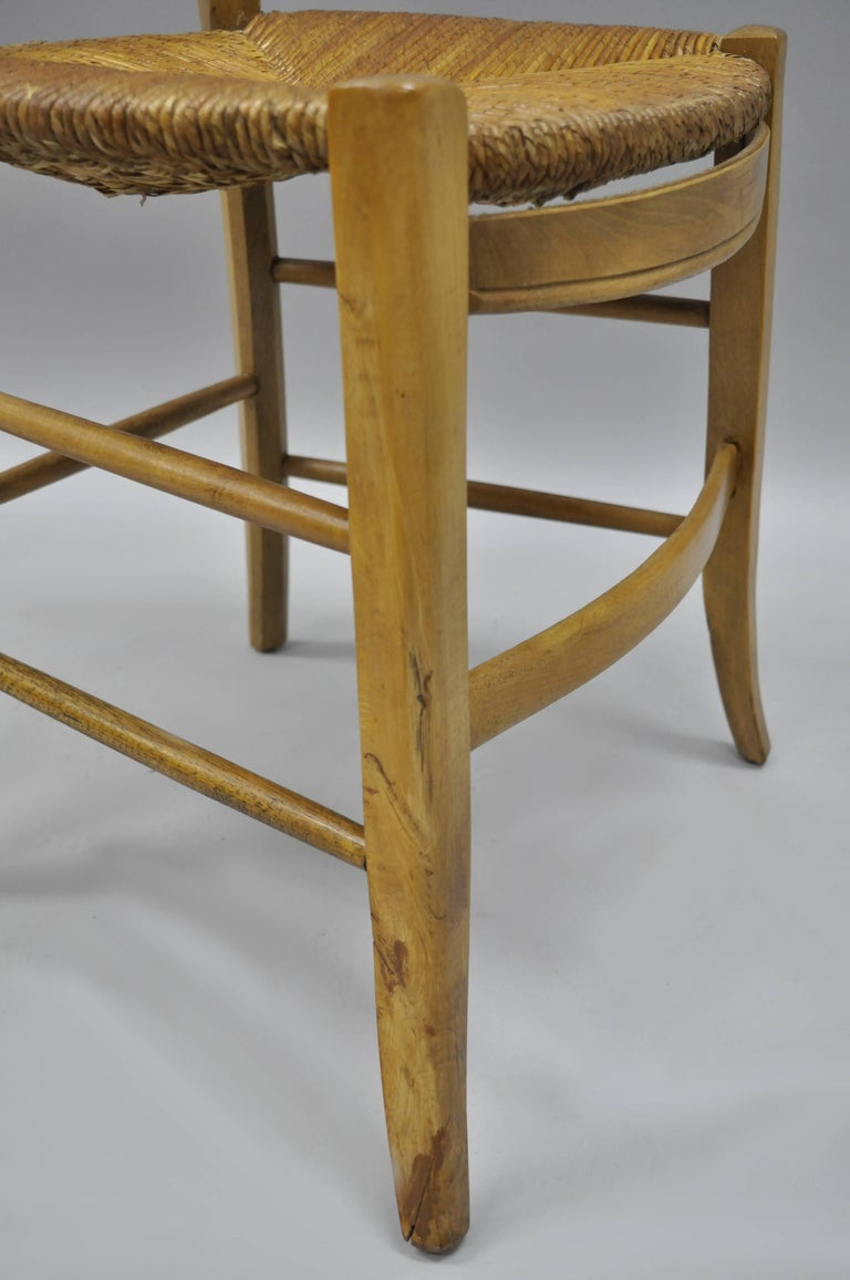 Cherrywood Primitive Country French Dining Chairs Woven