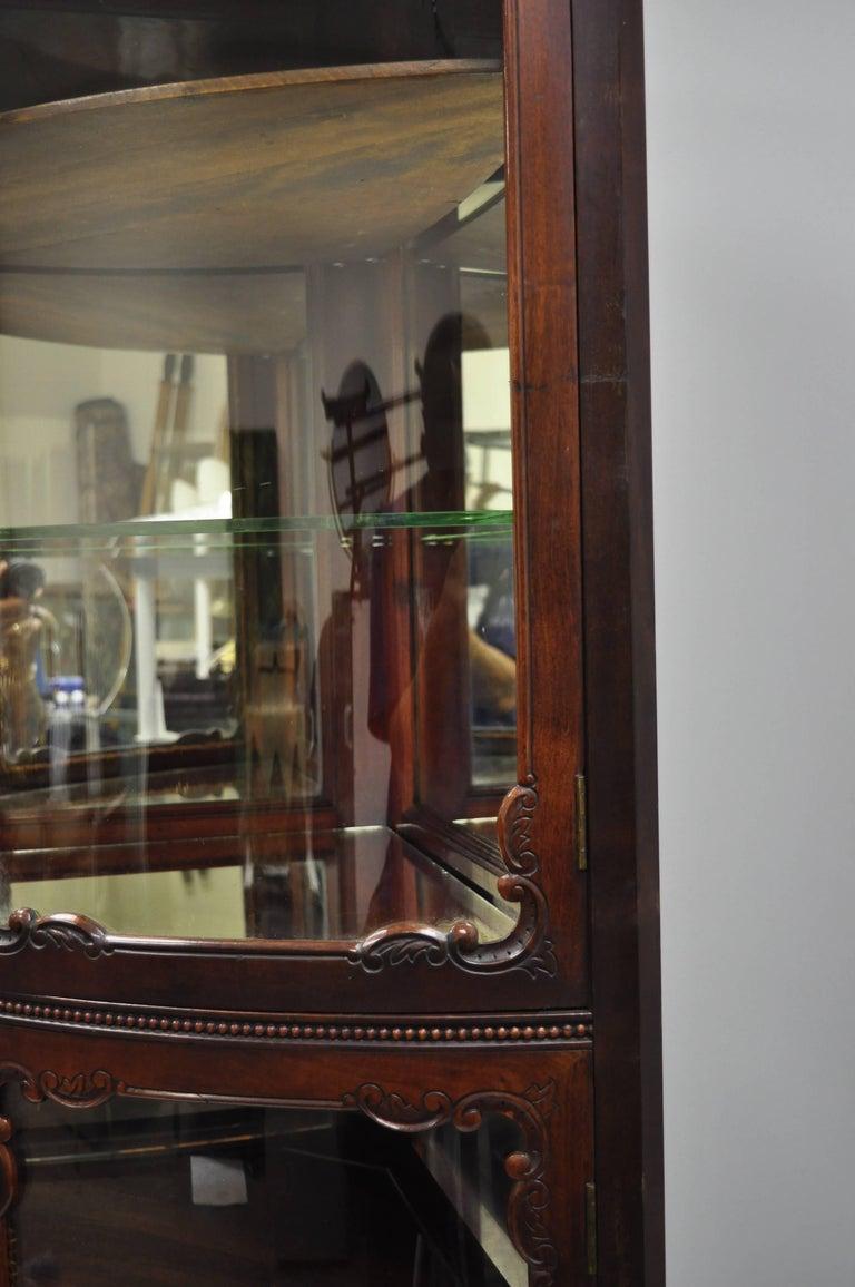 Cool Vitrine Glas Referenz Von Antique Mahogany Victorian Bow Front Glass Corner