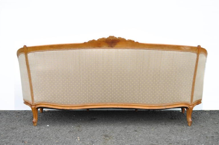 French Country or Louis XV Style Finely Carved Walnut Sofa or Canape, circa 1920 For Sale 2