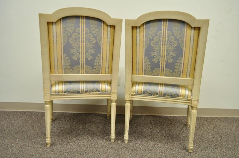Pair of French Louis XVI Style Finely Carved and Painted Fauteuils or Armchairs For Sale 3