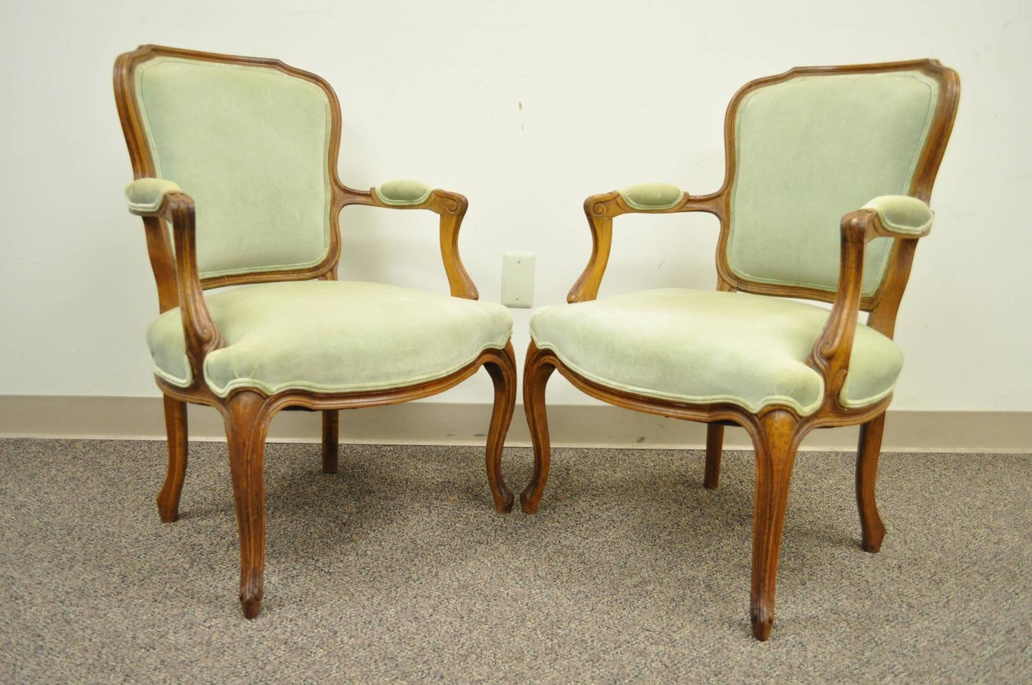 Pair of carved walnut french louis xv style fauteuils or for Z furniture philadelphia