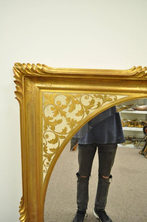 Vintage 1960s Italian Florentine Gold Gilt Carved Wood Wall Mirror ...