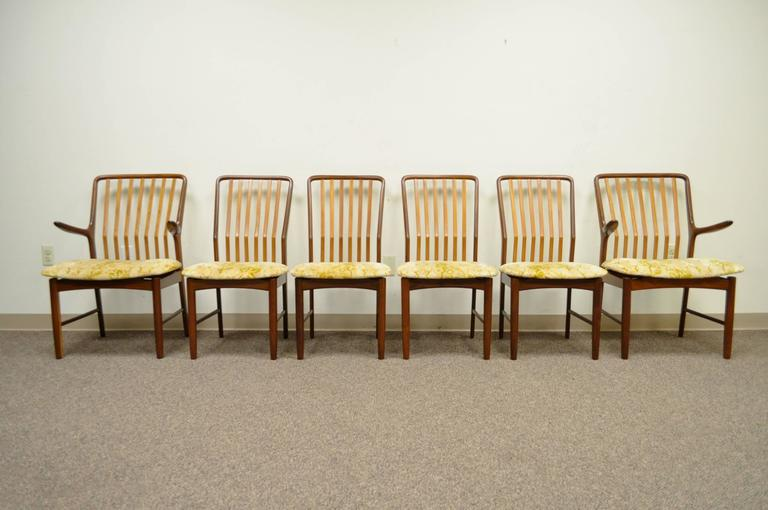 Set of Six Teak Danish Modern Dining Chairs by Svend A. Madsen for Moreddi 10