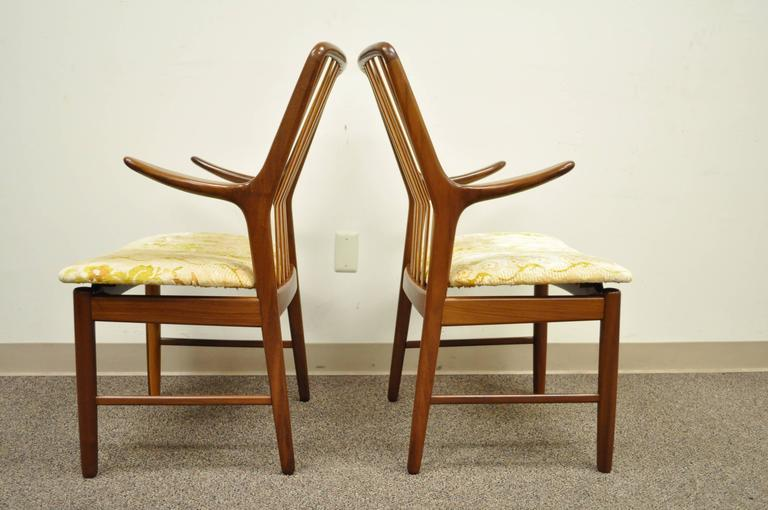 Set of Six Teak Danish Modern Dining Chairs by Svend A. Madsen for Moreddi 3