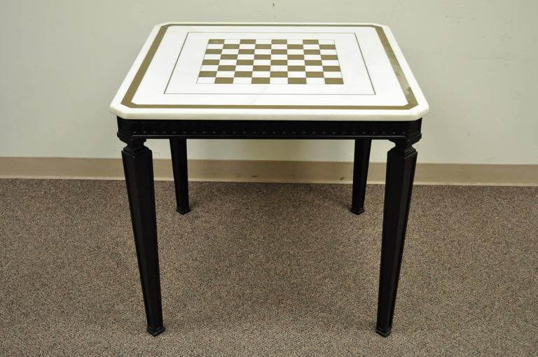 Marble Top Game Table Set In The Chinese Chippendale/George III Taste,  Believed