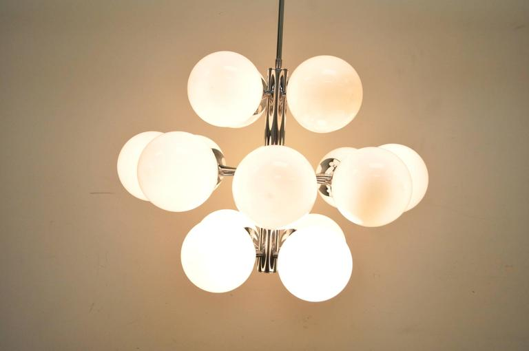 Mid-Century Modern Lightolier Atomic Chrome and Glass Sputnik ...