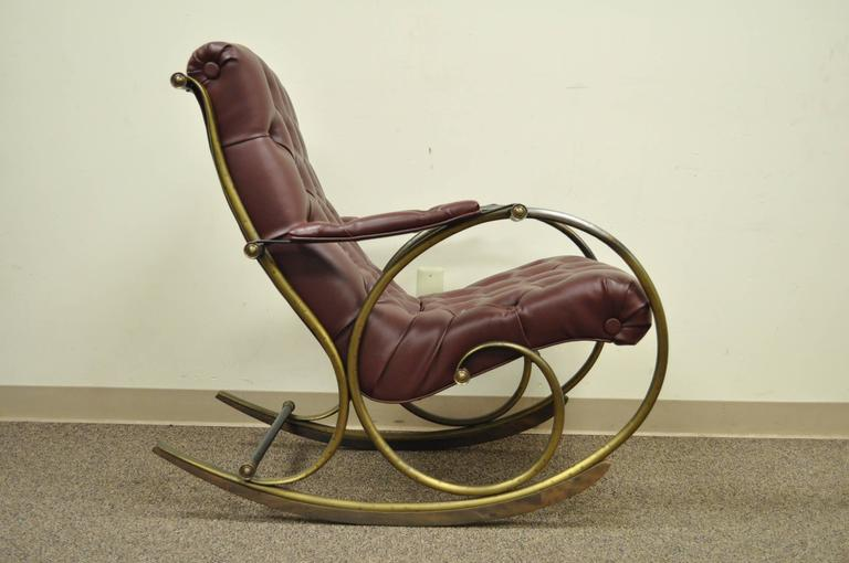 Lovely Mid Century Rocking Chair Designed By Lee Woodard. The Chair Frame  Is Bent