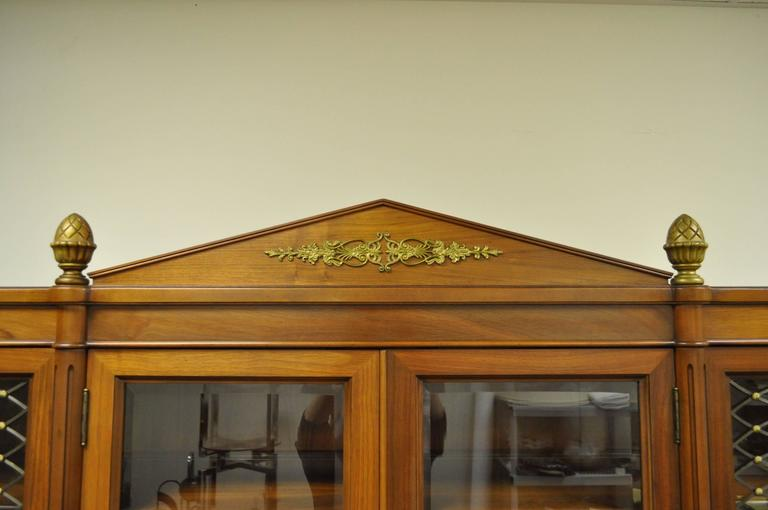 American Mid-20th Century French Louis XVI Style Display Cabinet or Bookcase For Sale