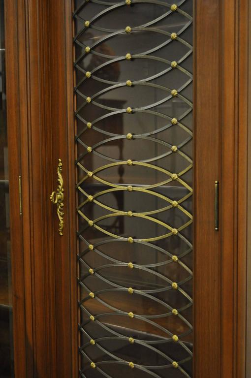 Bronze Mid-20th Century French Louis XVI Style Display Cabinet or Bookcase For Sale