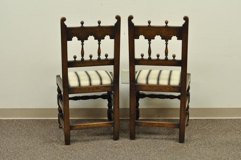 Dining Room Chairs Oak set of eight solid carved oak 1930s jacobean or gothic style dining
