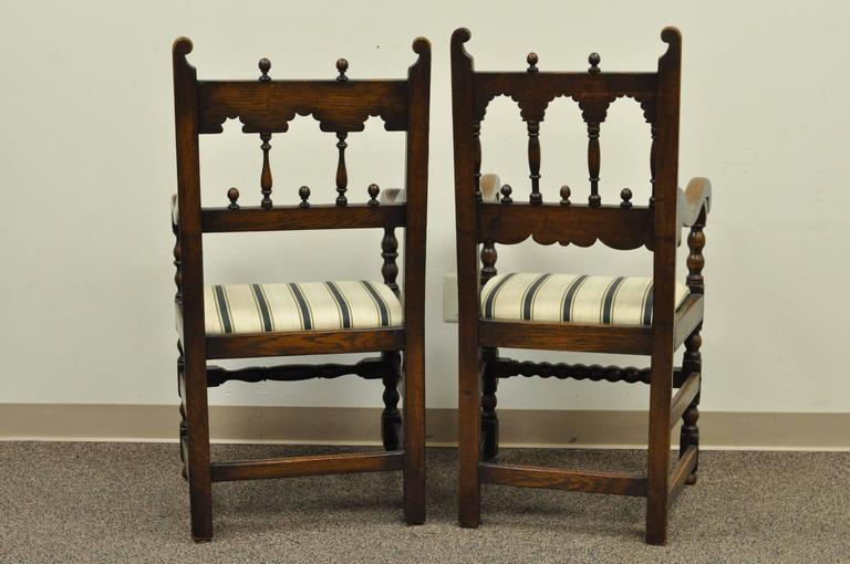 Set of Eight Solid Carved Oak 1930s Jacobean or Gothic  : DSC0061l from www.1stdibs.com size 768 x 510 jpeg 46kB