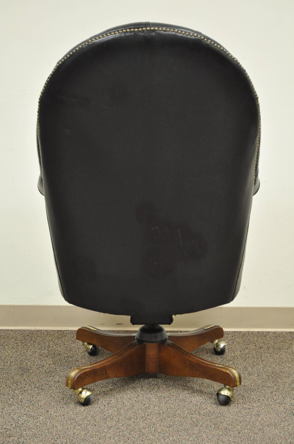 english chesterfield style office desk chair for sale at 1stdibs