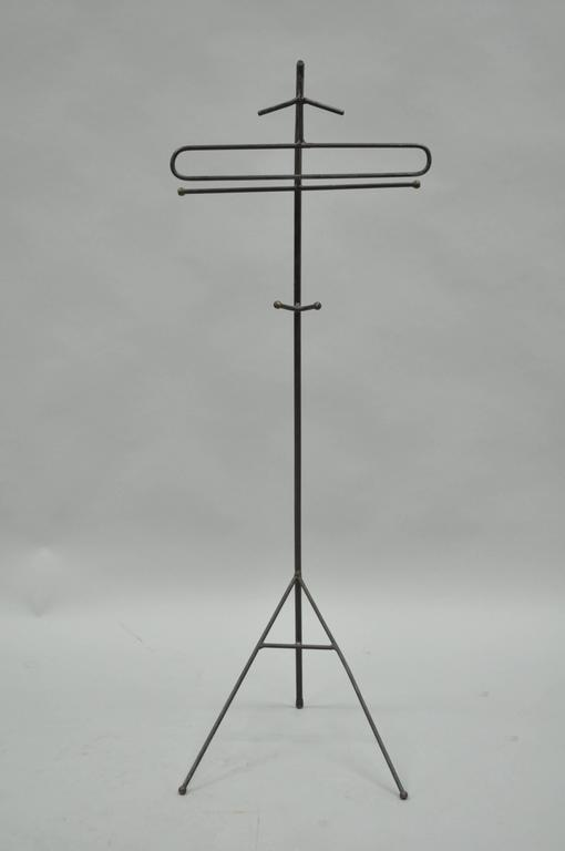 Mid-Century Modern Wrought Iron Modernist Hairpin Valet after Jacques Adnet For Sale 5