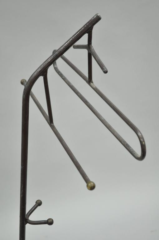 Mid-Century Modern Wrought Iron Modernist Hairpin Valet after Jacques Adnet For Sale 4