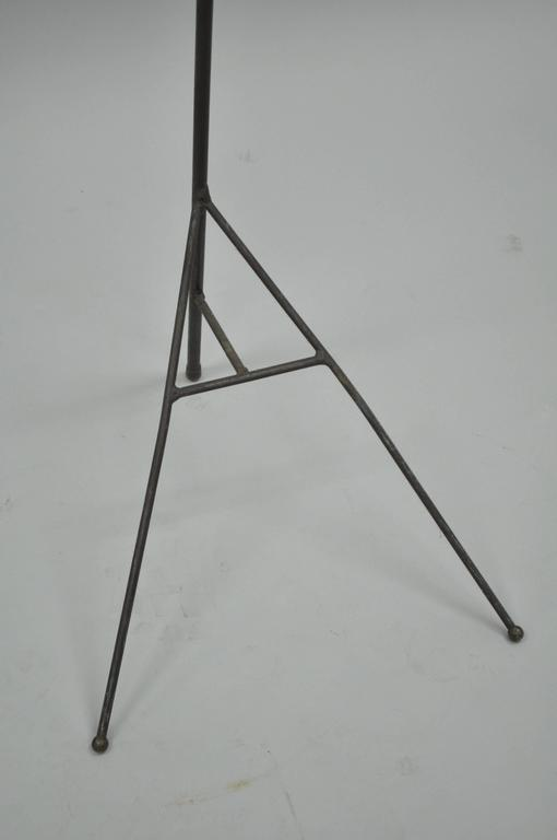Mid-Century Modern Wrought Iron Modernist Hairpin Valet after Jacques Adnet For Sale 1
