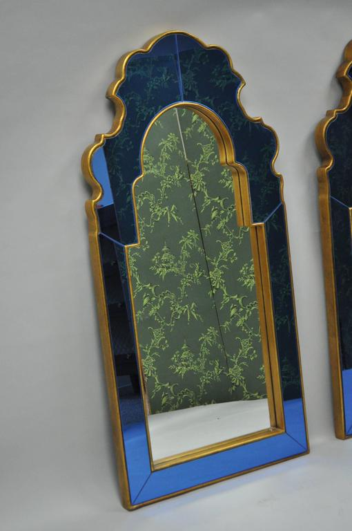 Pair Of Bunny Williams For Mirror Image Home Sapphire Blue