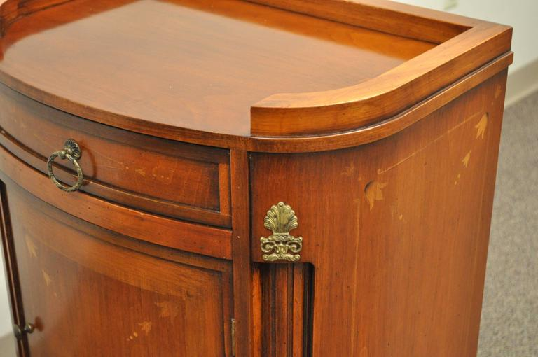 French Louis XVI Style Cherry Italian Nightstand Cabinet By Buying U0026 Design  In Good Condition For