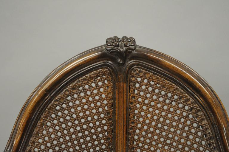 French Country Louis Xv Style Swivel Vanity Chair Cane