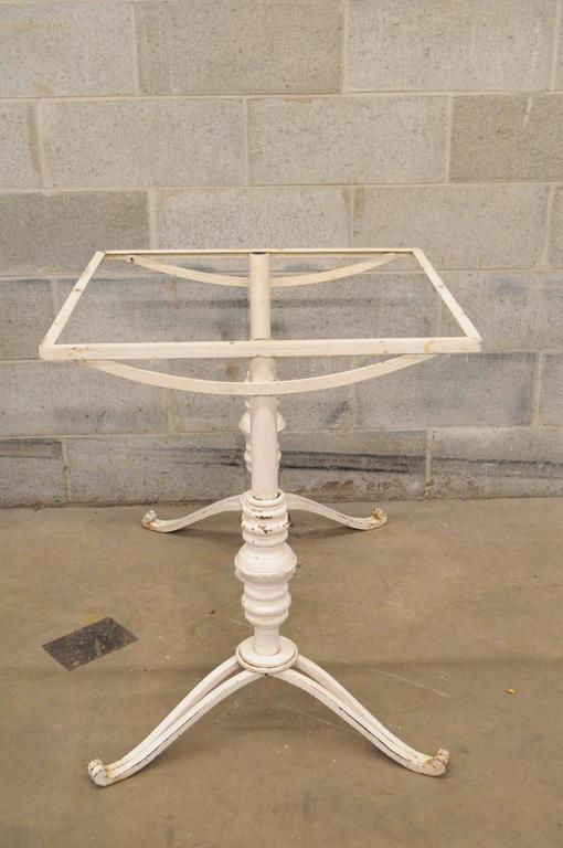 Vintage French Bistro Cast Iron Pastry Table Base Dining
