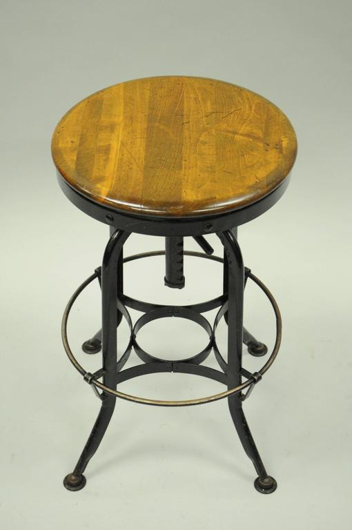 Defiance Wood And Metal Architect Draftsman Stool Drafting
