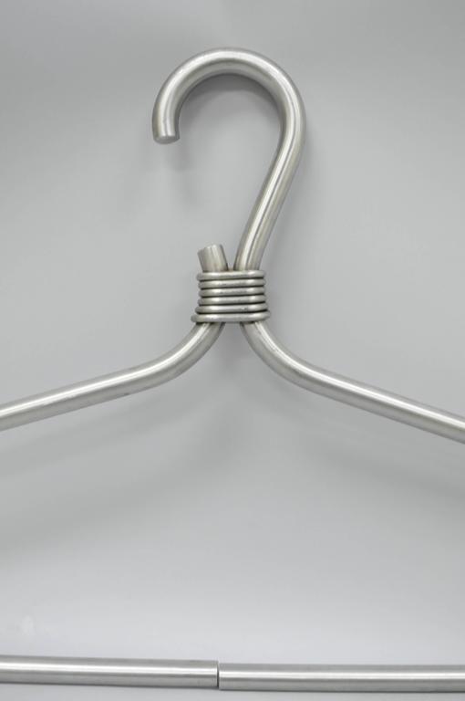 Mid-Century Modern Huge Steel Decorative Clothing Hanger Pop Art Wall Store Display For Sale