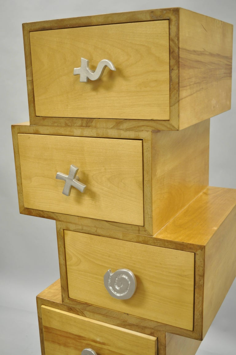 Trout Studios Grisette Cabinet Birch Wood Aluminum Chest