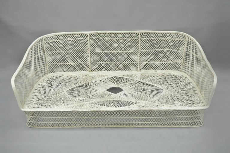 Russell Woodard Woven Spun Fiberglass Sculptural Sofa