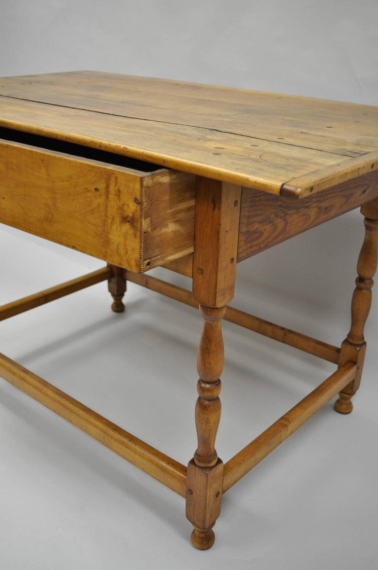 american 19th century maple pine wood farm tavern table primitive rustic barn for sale at 1stdibs. Black Bedroom Furniture Sets. Home Design Ideas