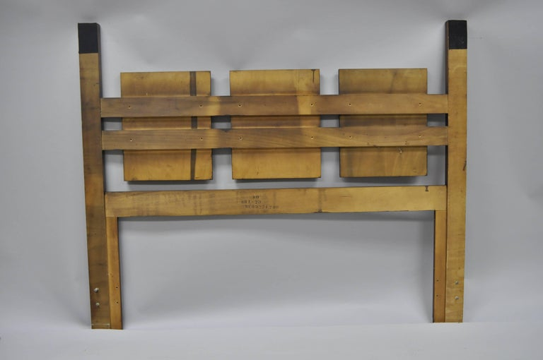 Lane Brutalist Queen Full Size Bed Headboard Vintage Mid-Century Modern 2