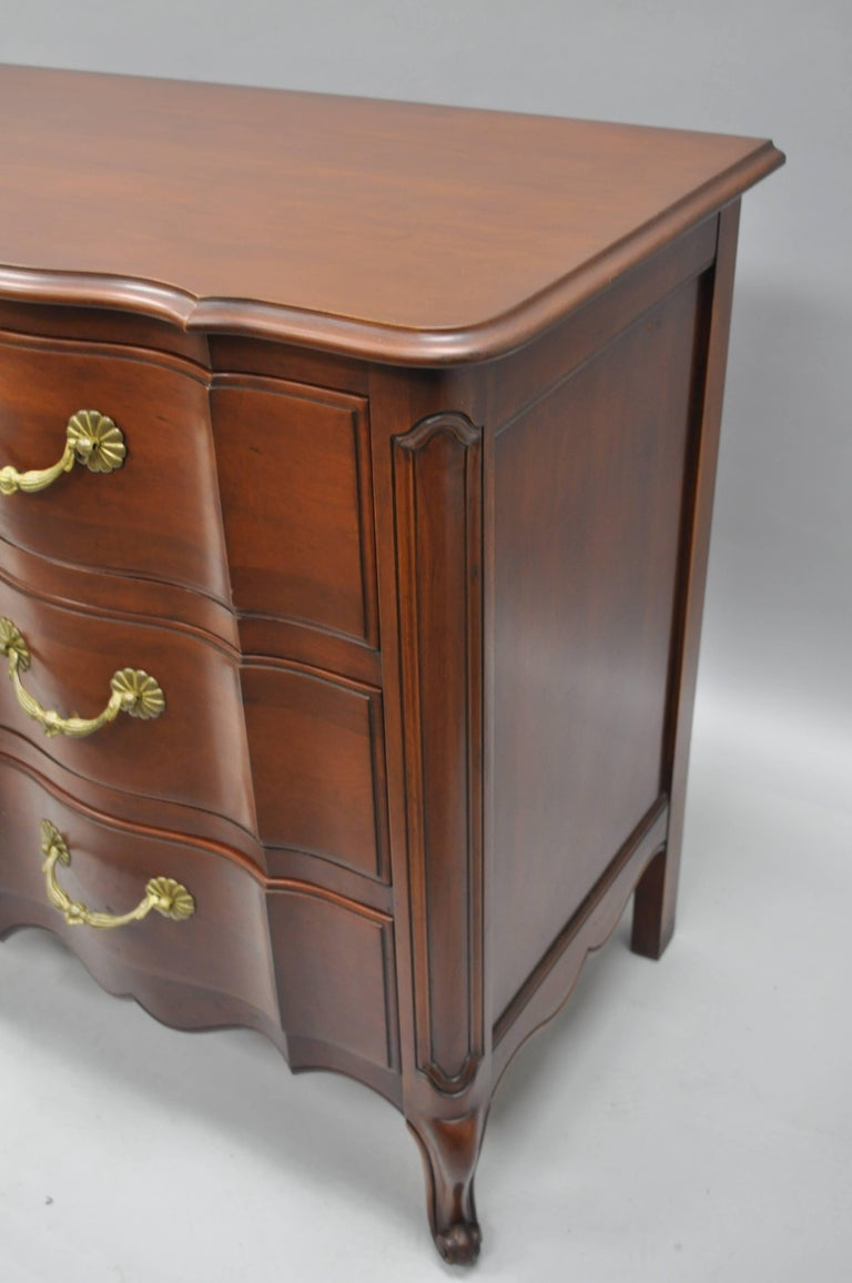 John Widdicomb French Country Provincial Louis XV Cherry Commode Bachelor Chest For Sale 1