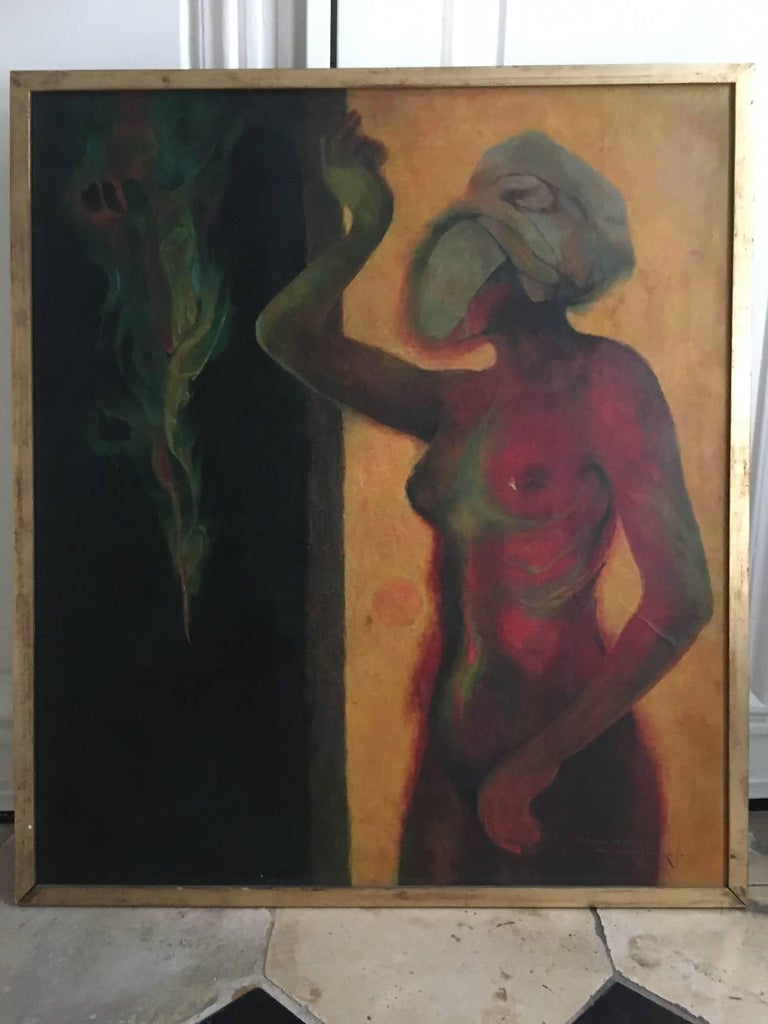 Mexican Guillermo Meza, Eva y la Serpiente, Haiti Chérie, 1968 For Sale