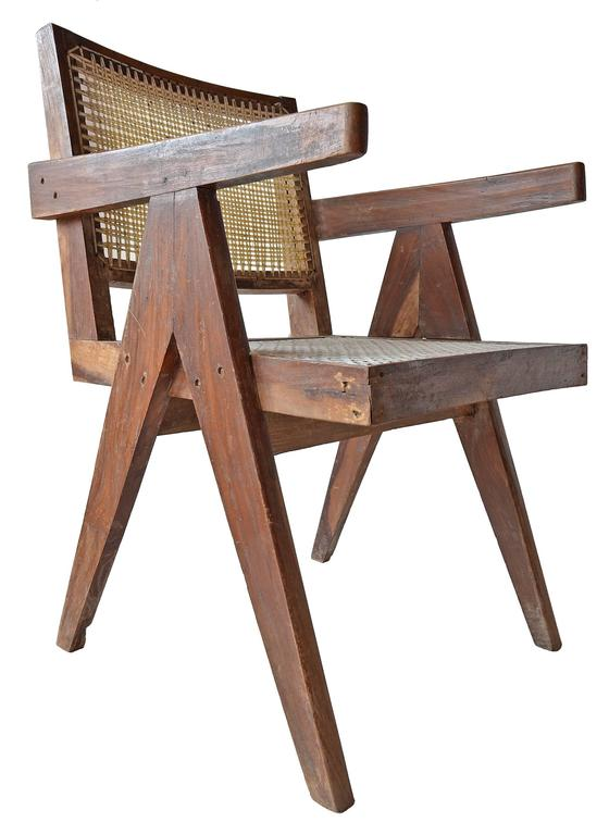 Exceptional Unrestored Pierre Jeanneret Armchair for Chandigarh  2