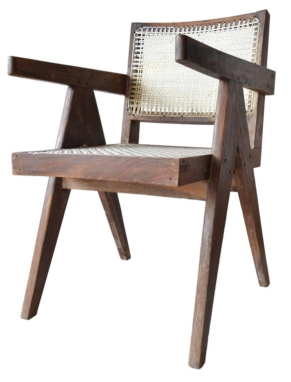 Exceptional Unrestored Pierre Jeanneret Armchair for Chandigarh  In Good Condition For Sale In Brooklyn/Toronto, Ontario