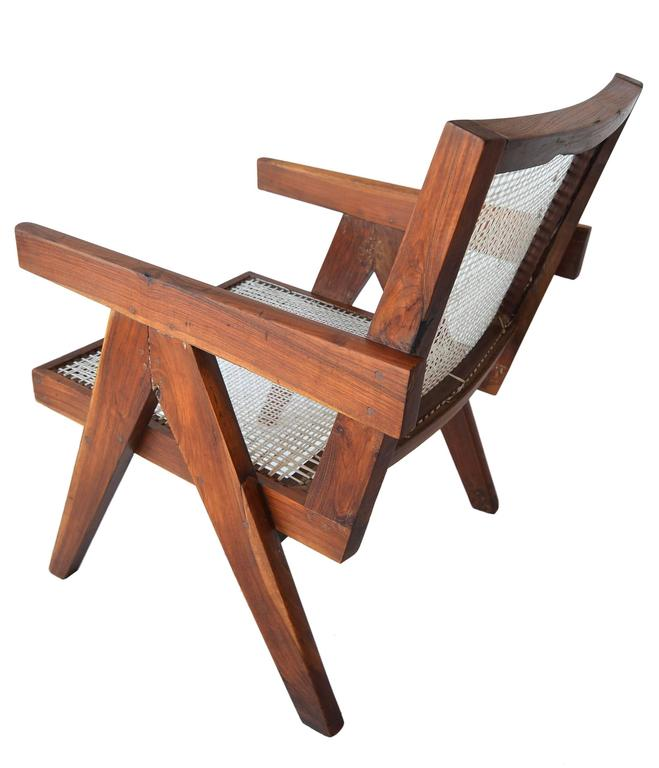Pair of Pierre Jeannette Easy Lounge Chairs from Chandigarh, circa 1956 6