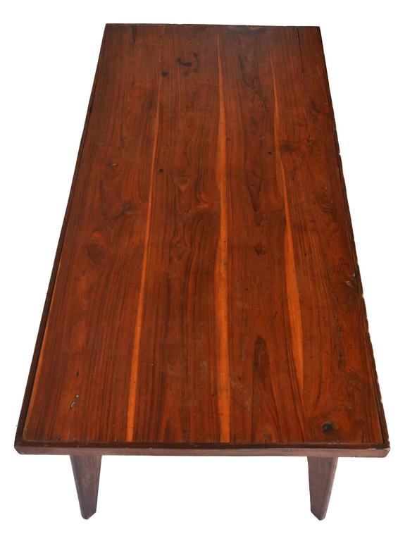 Mid-Century Modern Exceptional Pierre Jeanneret Dining Table in Solid Sissoo Rosewood For Sale