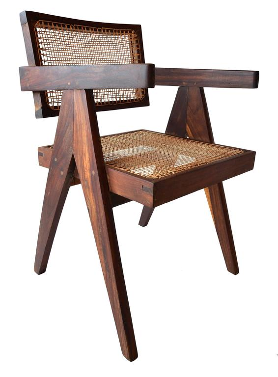 Indian Exceptional Set of Eight Sissoo Rosewood Armchairs by Pierre Jeanneret For Sale