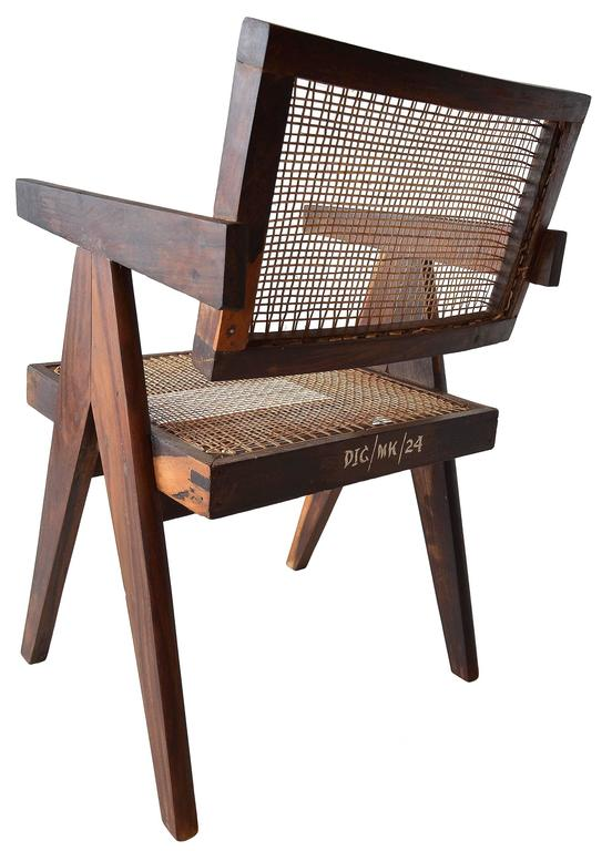 Exceptional Set of Eight Sissoo Rosewood Armchairs by Pierre Jeanneret 5
