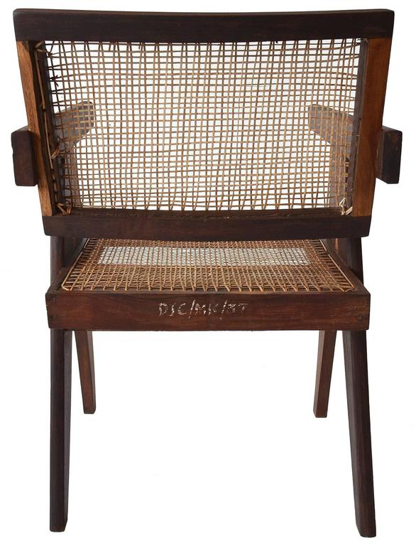 Exceptional Set of Eight Sissoo Rosewood Armchairs by Pierre Jeanneret For Sale 1