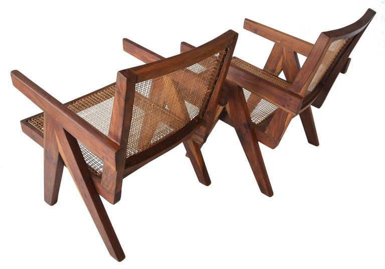 Mid-Century Modern Pair of Pierre Jeanneret PJ-SI-29-A Low Chairs in Sissoo Rosewood, circa 1955