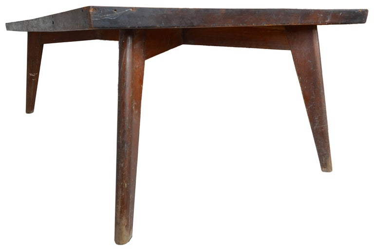 Mid-20th Century Rare & Correct Large Pierre Jeanneret PJ-TA-01 Table for Chandigarh, circa 1960 For Sale
