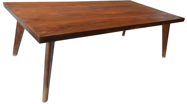 Mid-Century Modern Rare & Correct Large Pierre Jeanneret PJ-TA-01 Table for Chandigarh, circa 1960 For Sale