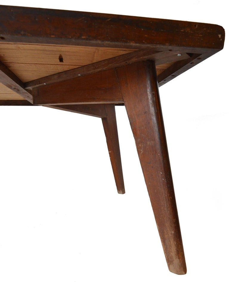 Rare & Correct Large Pierre Jeanneret PJ-TA-01 Table for Chandigarh, circa 1960 For Sale 1