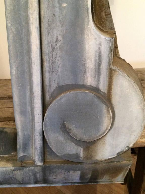 18th Century Large French Zinc Dormer For Sale 1