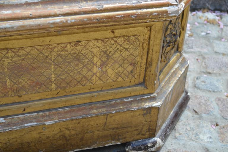 Very Large Carved and Gilded English Planter with Zinc Liner, circa 1850 3