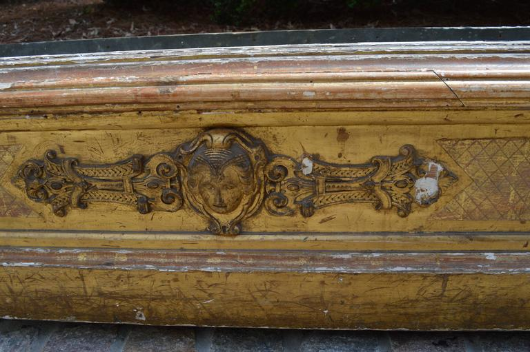 Very Large Carved and Gilded English Planter with Zinc Liner, circa 1850 5