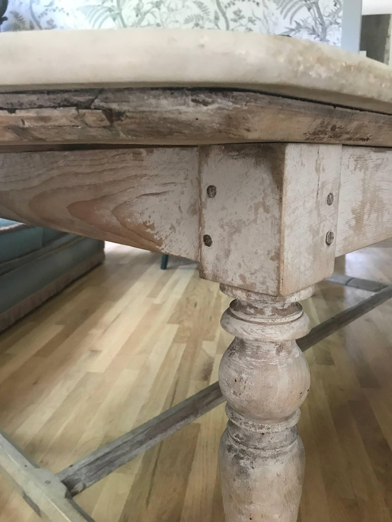 Antique French Marble-Top Dining Table In Good Condition For Sale In Nashville, TN