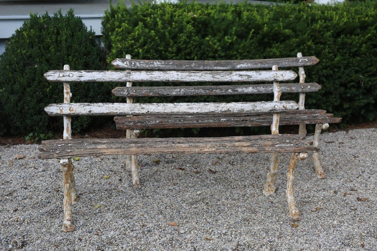 Pair of Antique Garden Benches In Good Condition For Sale In Nashville, TN