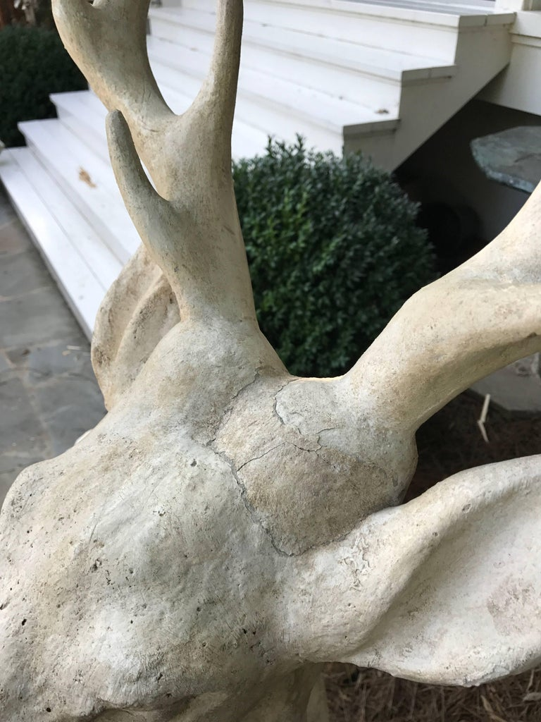 Large Standing Deer Statue In Good Condition For Sale In Nashville, TN